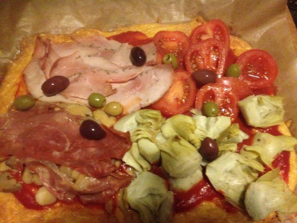Keto Pizza Quattro Stagioni