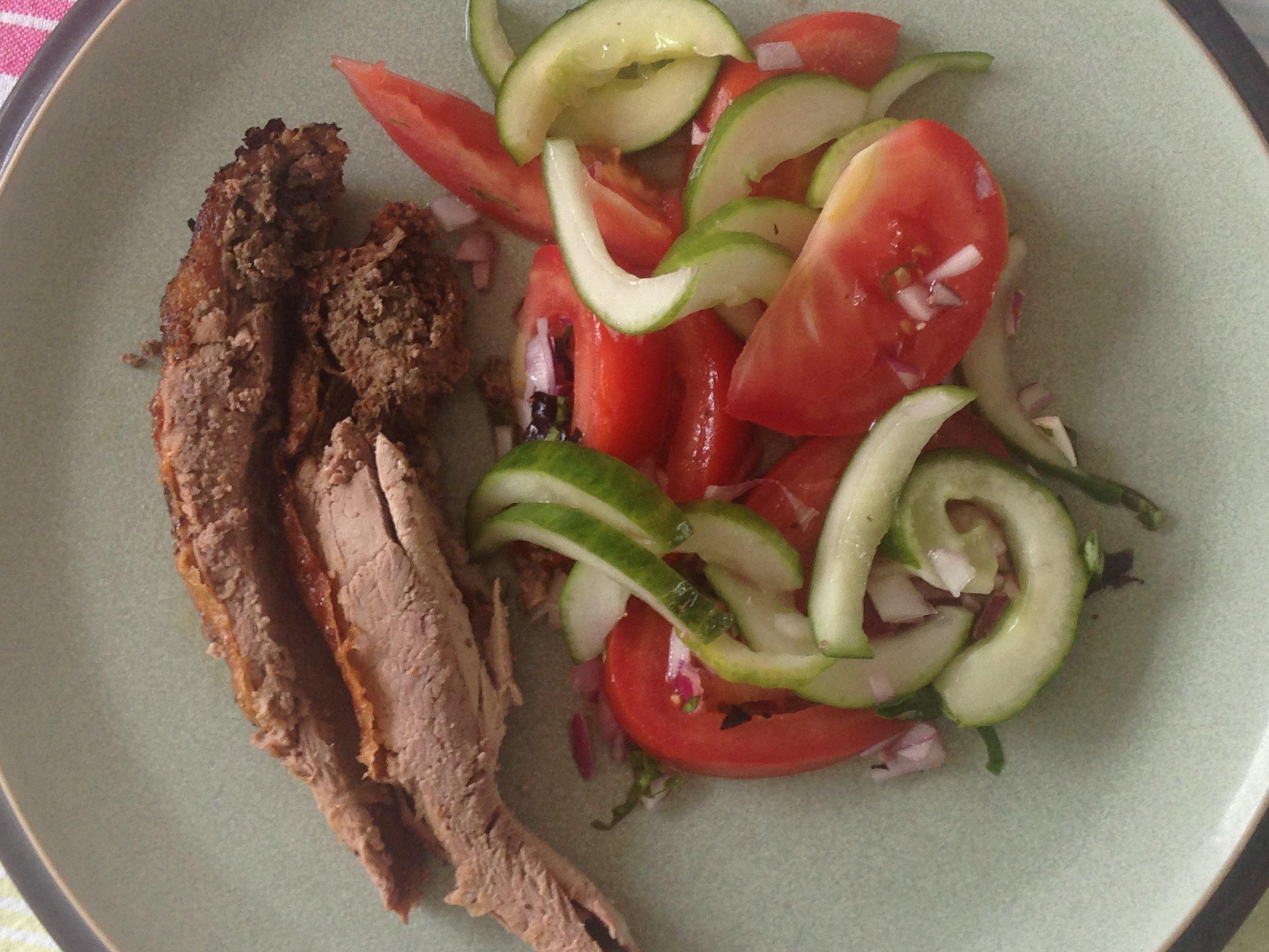 Keto hoofdmaaltijd: Gebraden eend op Italiaanse wijze met salade