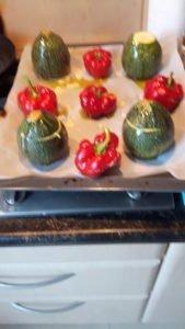 Gevulde paprika en courgette