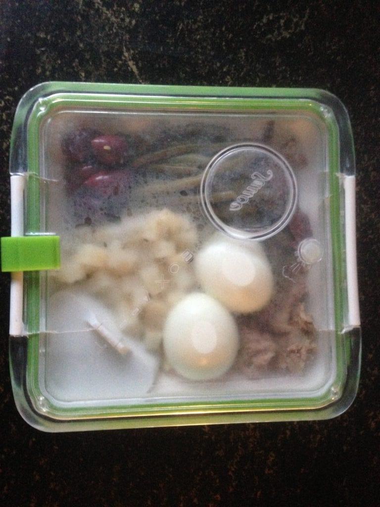 Gezonde lunch in een goed afsluitbare lunchbox