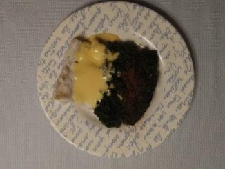 Kabeljauw, Hollandaise saus en spinazie