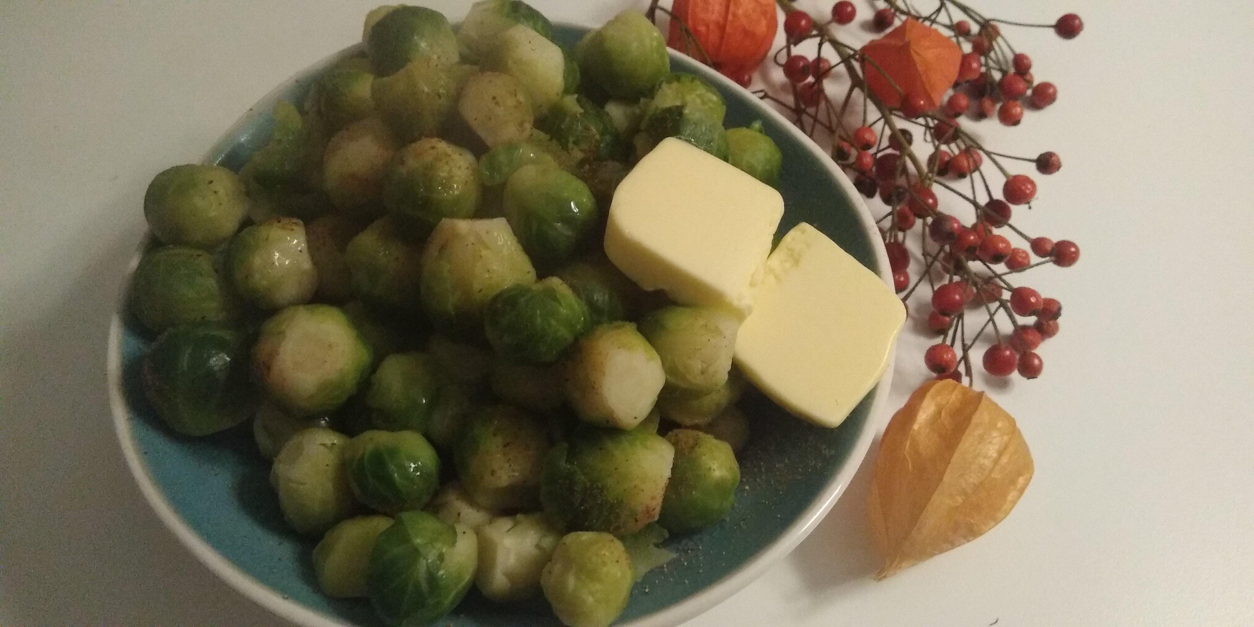 Keto groenten spruitjes met boter