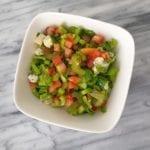 Tomaten-bleekselderij salade