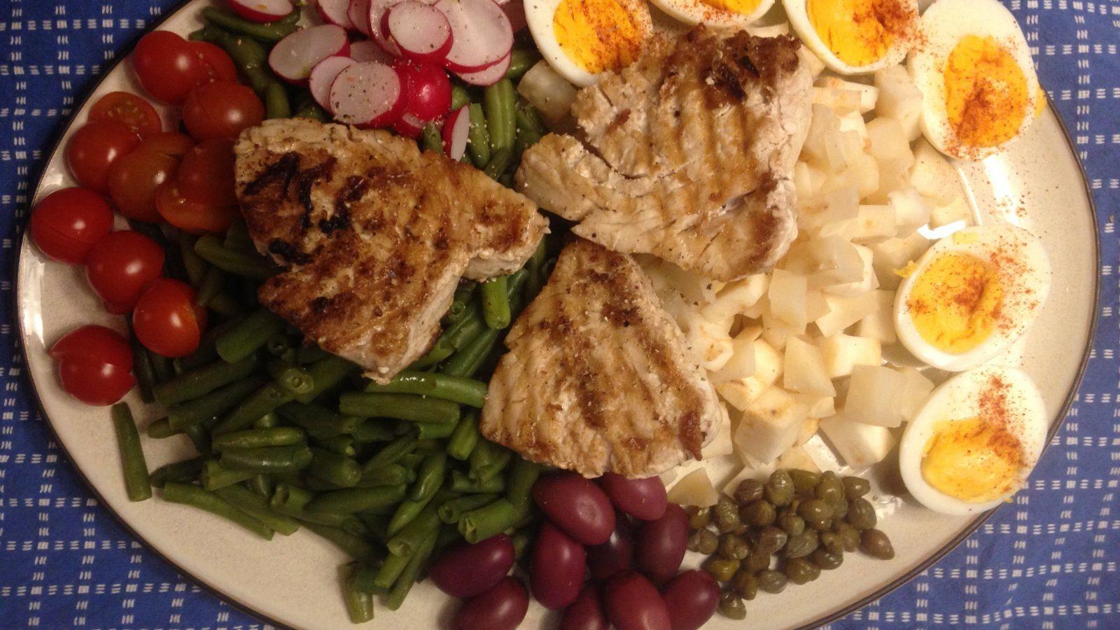 Keto salade Nicoise